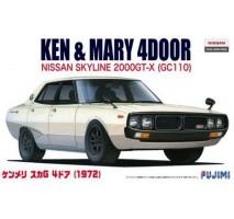 FUJIMI 038858 - 1:24 ID5 Ken&Mary Nissan Skyline G (GC110) '72 - ID Car (inch up series)