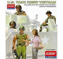 Academy 35005 - 1:35 US TANK CREW VIETNAM - 5 figures