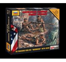 "Zvezda 7414 - 1:72 American Machine gun ""Browning"" - 3 figures"