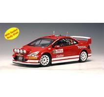 AUTOart 80555 - PEUGEOT 307 WRC 2005 M. MARTIN / M. PARK #8 (RALLY OF MONTE CARLO) 1:18