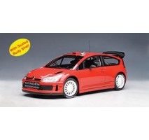 AUTOart 80736 - CITROEN C4 WRC PLAIN BODY VERSION - RED 1:18