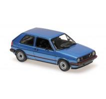 Minichamps - VOLKSWAGEN GOLF GTI - 1985 - BLUE METALLIC  - MAXICHAMPS