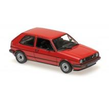 Minichamps - VOLKSWAGEN GOLF GTI - 1985 - RED  - MAXICHAMPS