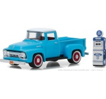 GreenLight 97030-A - 1954 Ford F-100 with Vintage Ford Motor Company Gas Pump Solid Pack - The Hobby Shop Series 3