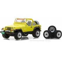 GreenLight 97030-D - 1991 Jeep YJ with Mud Spray and Spare Tires Solid Pack - The Hobby Shop Series 3