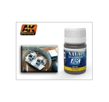 AK-301 DARK WASH FOR WOOD DECKS (35 ml) - Weathering Products for Ships