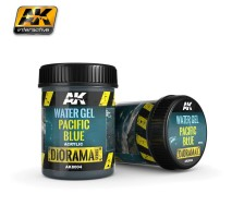AK-8004 WATER GEL PACIFIC BLUE - (250 ml, Acrylic) - Texture Products