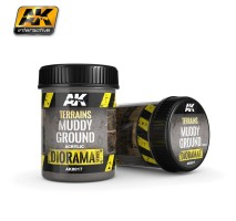 AK-8017 TERRAINS MUDDY GROUND - (250 ml, Acrylic) - Texture Products