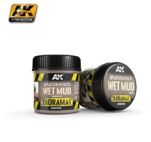 AK-8026 SPLATTER EFFECTS WET MUD - (100ml, Base product, Acrylic) - Texture Products