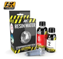 AK-8043 RESIN WATER 2-COMPONENTS EPOXY RESIN - (375 ml,Enamel) - Texture Products