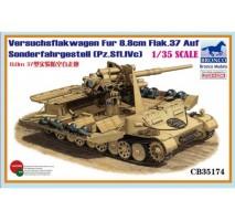 Bronco Models CB35174 - 1:35 Versuchsflakwagen 8.8cm Flak 37 auf Sonderfahrgestell(Pz
