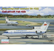 Eastern Express 14494 - 1:144 Yakovlev Yak-42D Russian medium-haul airliner, Aeroflot