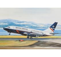Eastern Express EE14469 - 1:144 Boeing 737-200 American short-haul airliner, British Airways