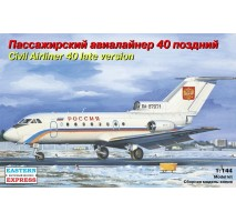 """Eastern Express EE14493 - 1:144 Yakovlev Yak-40 Russian short-haul airliner (late version), Special Flying Squad """"Rossiya"""""""