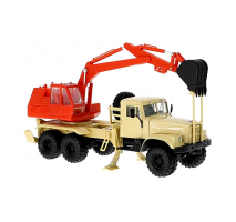 KrAZ-255B AO-4421A - beige and red