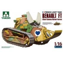 TAKOM 1001 - 1:16 French Light Tank Renault FT char canon/Girod turret