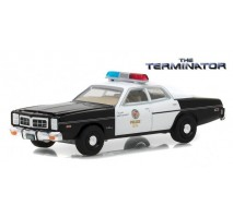 GreenLight 44790-C - The Terminator (1984) - 1977 Dodge Monaco Metropolitan Police Solid Pack - Hollywood Series 19