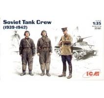 ICM 35181 - 1:35 Soviet Tank Crew (1939-1942) (3 figures - 1 officer, 2 tankmen)