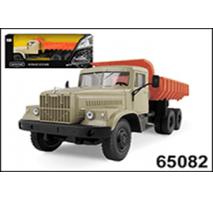 KrAZ-256B Orange-Beige Dump Truck
