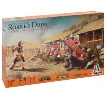 Italeri 6114 - 1:72 BATTLE of RORKE 's DRIFT - Diorama Set - 96 Zulu warrior figures, 40 British infantry figures, buildings