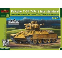 Micro Scale Design - 1:35 Pz.Kpfw.747 T-34(r) Tank, the German modification of the Т-34-76, Late version