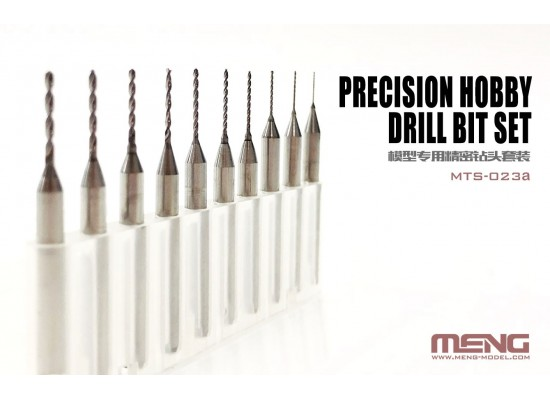 MENG MTS-023a - MTS-023a DSPIAE Precision hobby drill bit set (0.4-1.3mm)