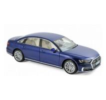 NOREV 188365 - 1:18 Audi A8 L 2017 - Blue metallic