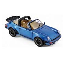NOREV -Porsche 911 Turbo Targa 1987 - Blue metallic