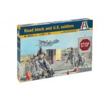 Italeri 6521 - 1:35 ROAD BLOCK AND U.S. SOLDIERS - 4 figures plus accessories