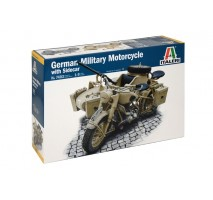 Italeri 7403 - 1:9 German Milit.Motorcycle with Sidecar