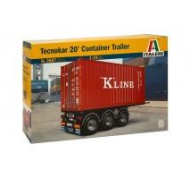Italeri 3887 - 1:24 TECNOKAR 20' CONTAINER TRAILER