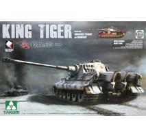 TAKOM 2047S - 1:35 WWII German Heavy Tank Sd.Kfz.182 King Tiger Henschel Turret w/Zimmerit and interior [Pz.Abt.505 special edition]
