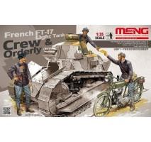 MENG HS-005 - 1:35 FRENCH FT-17 LIGHT TANK CREW & ORDERLY