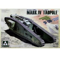 TAKOM 2015 - 1:35 WWI Heavy Battle Tank Mark IV Male Tadpole w/Rear mortar