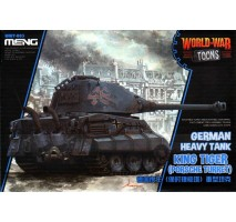 MENG WWT-003 - German Heavy Tank King Tiger (Porsche Turret) (cartoon model) - snap-fit