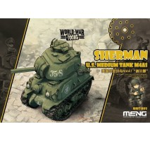 MENG WWT-002 - U.S. Medium Tank M4A1 Sherman - snap-fit