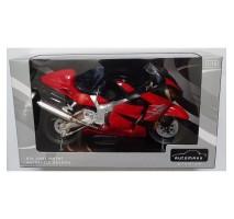 AOSHIMA AOS07991 - 1:12 DIECAST MOTORCYCLE: SUZUKI GSX1300R HAYABUSA (RED)