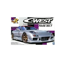 AOSHIMA AOS00810 - 1:24 S-PACKAGE VER.R: C-WEST FD3S RX-7