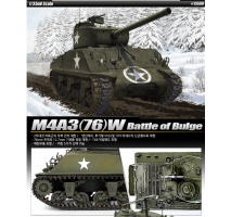 """Academy 13500 - 1:35 M4A3 76mm US ARMY """"BATTLE OF THE BULGE"""""""