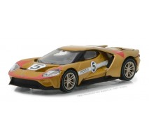 GreenLight 13200-C - 2017 Ford GT 1966 #5 Ford GT40 Mk II Tribute Solid Pack - Ford GT Racing Heritage Series 1