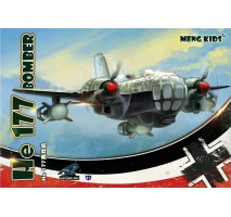 MENG mPLANE-003 - He 177 Bomber (Special Edition), snap-fit - MENG KIDS