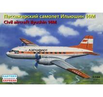 Eastern Express EE14474 - 1:144 Ilyushin IL-14M Russian Short-haul Passenger Aircraft, Aeroflot USSR
