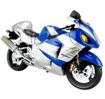 AOSHIMA AOS07990 - 1:12 SUZUKI GSX1300R HAYABUSA BLUE - DIECAST MOTORCYCLE
