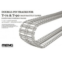 MENG SPS-030 - 1:35 Double-Pin Tracks for T-72 & T-90 Main Battle Tanks (Cement-Free Workable Tracks)