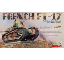 MENG TS-011 - 1:35 FRENCH FT-17 LIGHT TANK (RIVETED TURRET)