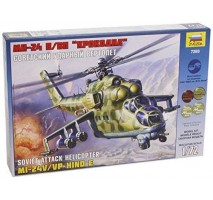 Zvezda 7293 - 1:72 Soviet attack helicopter MIL MI-24 V/VP Hind E