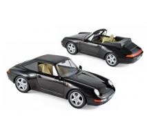 NOREV -Porsche 911 Cabriolet 1994 - Black