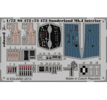 Eduard SS472 - 1:72 Photo-etched parts for Sunderland Mk. I Interior S. A. (ITALERI)