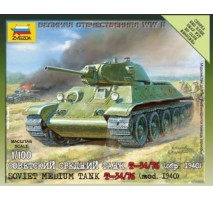 Zvezda 6101 - 1:100 Soviet Medium Tank T-34 Model 76