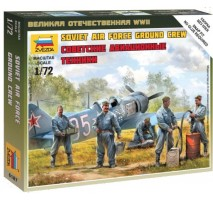 Zvezda 6187 - 1:72 Soviet airforce ground crew - 5 figures